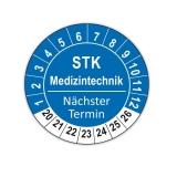 Plaketten STK Medizintechnik - blau