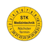 Plaketten STK Medizintechnik - gelb