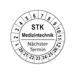 Plaketten STK Medizintechnik - weiss
