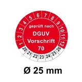 Plaketten DGUV Vorschrift 70- rot 25mm