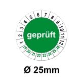 Plaketten Geprüft - grün 25mm