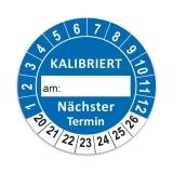 Plaketten Kalibriert - 30 mm Blau