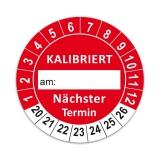 Plaketten Kalibriert - 30 mm Rot