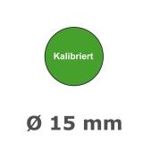 Plaketten Kalibriert - 15 mm grün