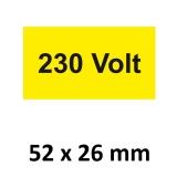 Warnschild 230 Volt 52x26mm