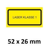 Warnschild Laser Klasse 1  52x26mm