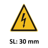 Warnschild Elektrische Spannung SL 30mm