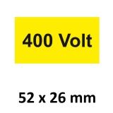 Warnschild 400 Volt 52x26mm