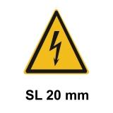 Warnschild Elektrische Spannung SL 20mm