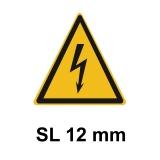 Warnschild Elektrische Spannung SL 12mm