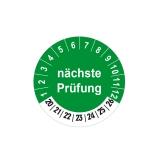 Plaketten nächste Prüfung - 30 mm Grün