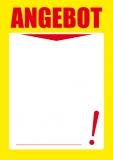 Designpapier-222 DIN-A4 (100 Blatt)  Angebotspapier Gelb Schaufenster