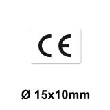 CE Zeichen Aufkleber - 15x10 mm