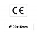CE Zeichen Aufkleber - 20x15 mm