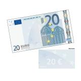 Spielgeld 20 EUR - 100 Banknoten