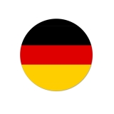 100 Runde Deutschland Aufkleber Ø 25mm