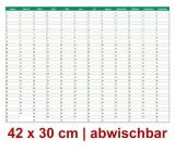L Dauerkalender Grün abwischbar