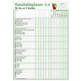 Haushaltsplaner 2.0 DIN A4 für bis zu 6 Personen und 4 Wochen