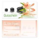 Gutschein-210 (50 Stück) Neutral Blumenmotiv