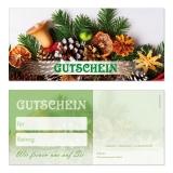 Gutschein-226 (50 Stück) Weihnachten neutral