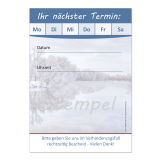 Terminblock-503  (1 Stück)  Blau Wintermotiv neutral
