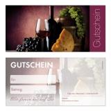 Gutschein-235 (50 Stück) Weinmotiv