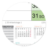 L Color-Wandkalender 2021